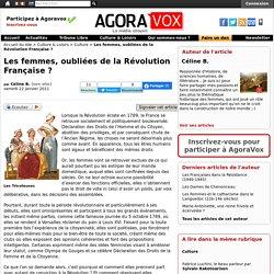 Les femmes, oubliées de la Révolution Française