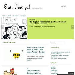 A blog for learners of French