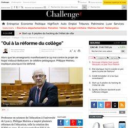 """""""Oui à la réforme du collège"""""""