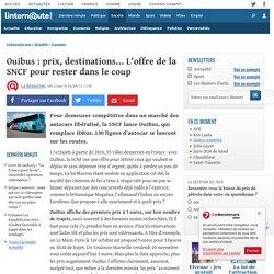 Ouibus : prix, destinations... L'offre de la SNCF pour rester dans le coup