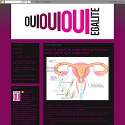 """ouiouioui: Dans """"la nature"""", un couple hétéro sur 10 est tout aussi """"stérile"""" qu'un couple homo."""