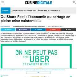 OuiShare Fest : l'économie du partage en pleine crise existentielle