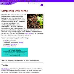 - Our Earth - Composting with worms
