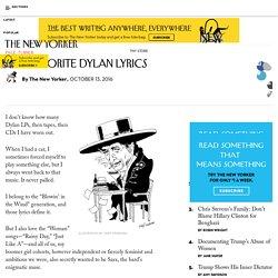 Our Favorite Dylan Lyrics
