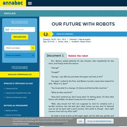 Our future with robots