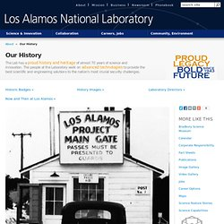 Birth of Modern Physics Photo: History @ Los Alamos: Los Alamos National Lab