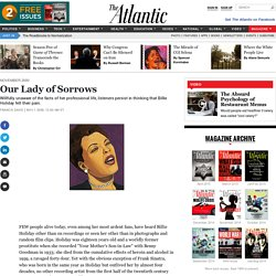 Our Lady of Sorrows — The Atlantic