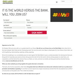 Our Land Our Business – World Vs Bank