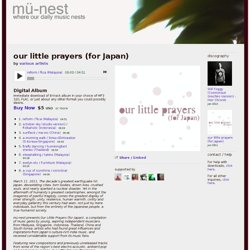 our little prayers (for Japan) | mü-nest
