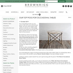 Our Top Picks for Occasional Tables