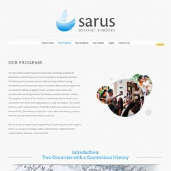 Our Program — Sarus Exchange Program