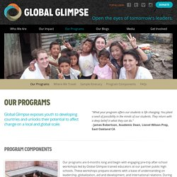 Our Programs - Global Glimpse