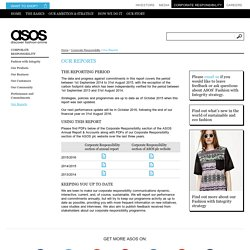 Our Reports – ASOS Plc