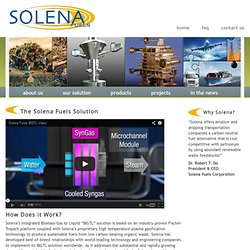 our solution - Solena Fuels