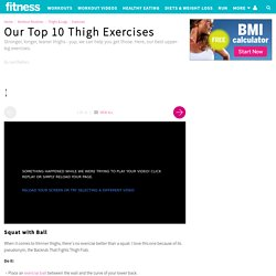 Our Top 10 Thigh Exercises