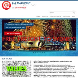Welcome to QLD Trade Print