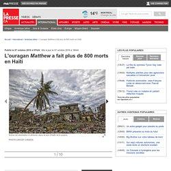 L'ouragan Matthew a fait plus de 800 morts en Haïti
