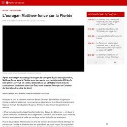 L'ouragan Matthew fonce sur la Floride