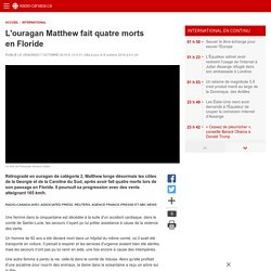 L'ouragan Matthew fait quatre morts en Floride