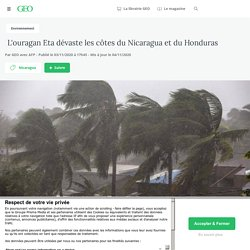 3-4 nov. 2020 L'ouragan Eta dévaste les côtes du Nicaragua et du Honduras