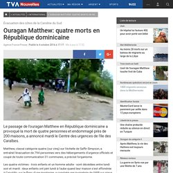Ouragan Matthew: quatre morts en République dominicaine
