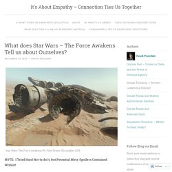 What does Star Wars – The Force Awakens Tell us about Ourselves?