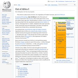 Out of Africa I - Wikipedia