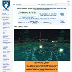 Out of the BLU - BG FFXI Wiki