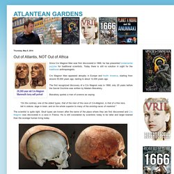 ATLANTEAN GARDENS: Out of Atlantis, NOT Out of Africa