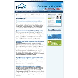 Outbound Call Center Community eNewsletter