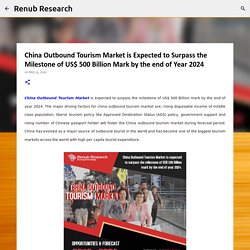 China Outbound Tourism Market is Expected to Surpass the Milestone of US$ 500 Billion Mark by the end of Year 2024