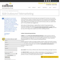 B2B Outbound Telemarketing - Callbox