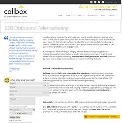 B2B Outbound Telemarketing - Callbox