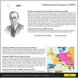 Outbreak and Causes of WW1: 25 facts Kids ***