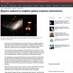 Massive outburst in neighbor galaxy surprises astronomers