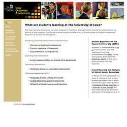 Outcomes Assessment - The University of Iowa