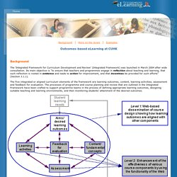 Outcomes-based eLearning at CUHK