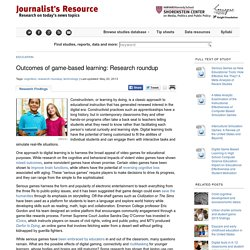 Outcomes of game-based learning: Research roundup - Journalist's Resource Journalist's Resource