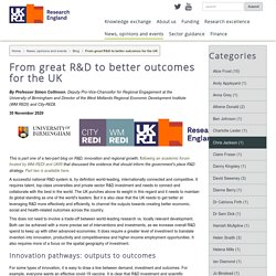 Mélodie - From great R&D to better outcomes for the UK - Research England