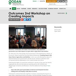 Outcomes 2nd Workshop on Creating Impacts