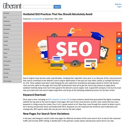 Outdated SEO Practices That You Should Absolutely Avoid