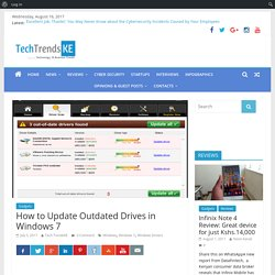 How to Update Outdated Drives in Windows 7 - TechTrenndsKE