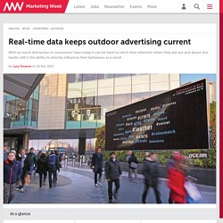 Real-time data keeps outdoor advertising current