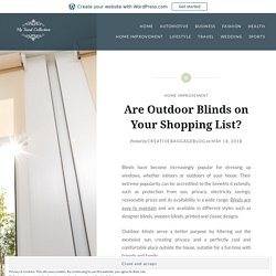 Five things to remember when you are buying outdoor blinds