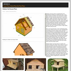 outdoor cat houses plans ~ Medem.co