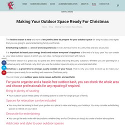 Making Your Outdoor Space Ready For Christmas in Florida