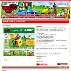 Outdoor & Indoor Play Centre Kits by Quadro