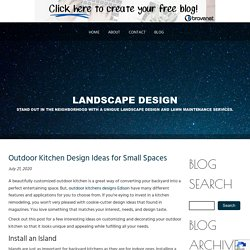 Outdoor Kitchen Design Ideas for Small Spaces