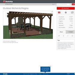 """ Outdoor Kitchen & Pergola "" par Jim Leigh – Banque d'images 3D"