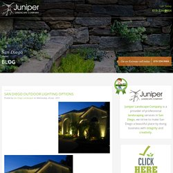 San Diego Outdoor Lighting Options - Juniper Landscape